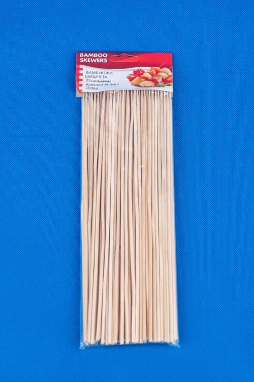 Бамбукови шишчета-25см./х100бр./
