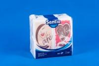 салфетки Santia-33х33/-х100бр.в пк./-сгънати